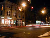 Howe Ave at night