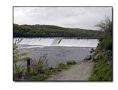 View of dam from Derby